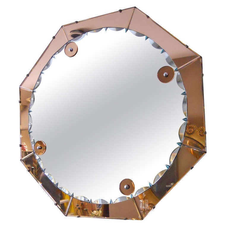 Splendid Italian Art Deco Mirror