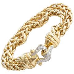 David Yurman Gold and Diamond Bracelet