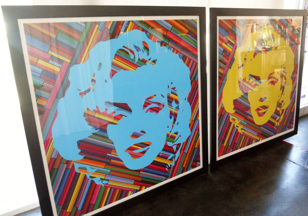 Set of Two Mauro Oliveira Marilyn Monroe Lithographs In Excellent Condition For Sale In Los Angeles, CA