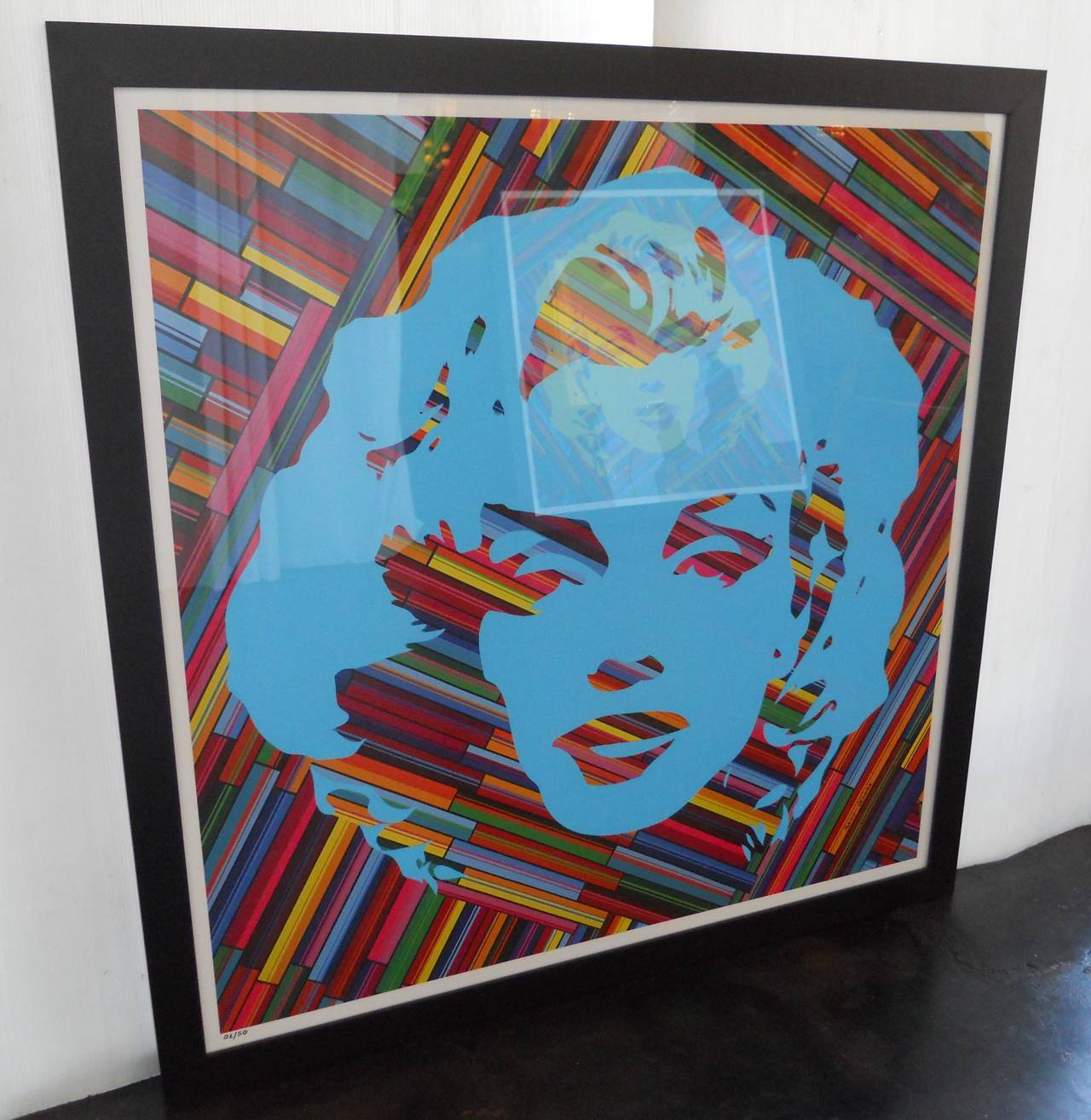 Contemporary Set of Two Mauro Oliveira Marilyn Monroe Lithographs For Sale