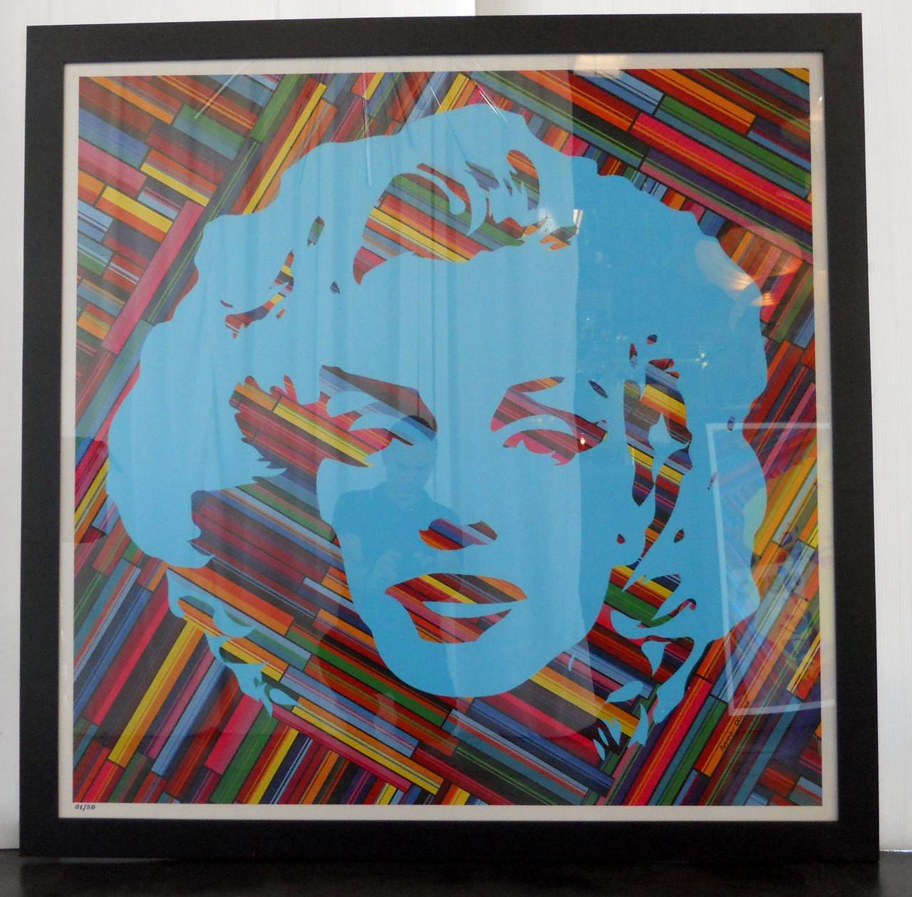 Set of Two Mauro Oliveira Marilyn Monroe Lithographs For Sale 1