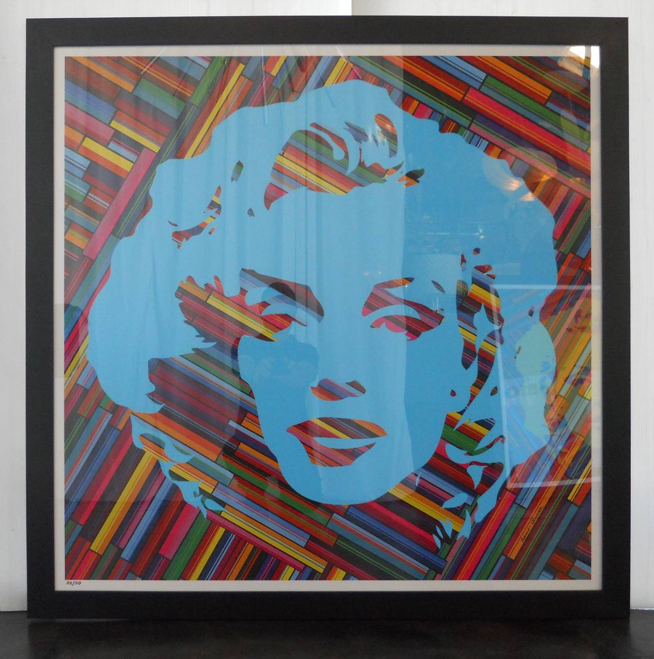 Set of Two Mauro Oliveira Marilyn Monroe Lithographs For Sale 2