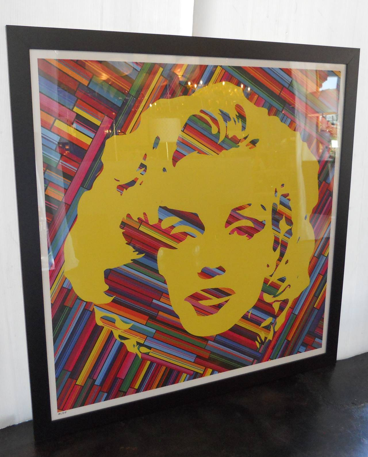Set of Two Mauro Oliveira Marilyn Monroe Lithographs For Sale at 1stdibs