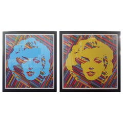 Set of Two Mauro Oliveira Marilyn Monroe Lithographs