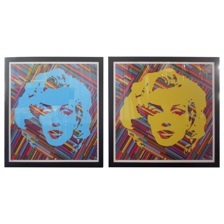 Set of Two Mauro Oliveira Marilyn Monroe Lithographs For Sale