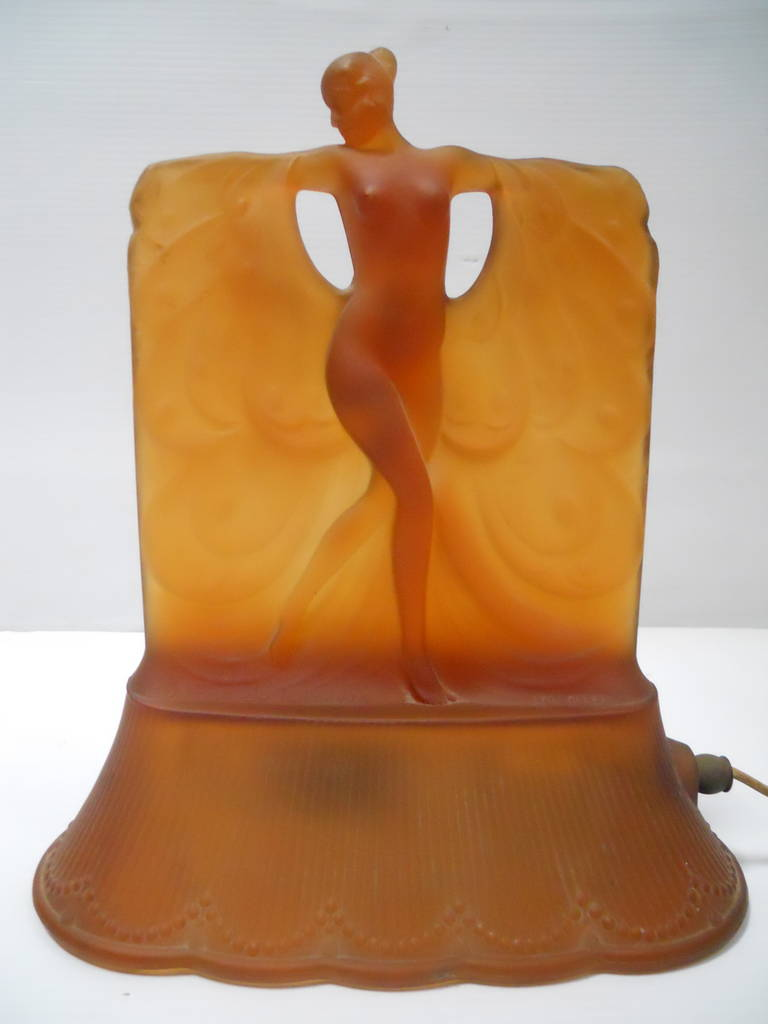 set of two danse de lumiere table lamps for sale at 1stdibs. Black Bedroom Furniture Sets. Home Design Ideas