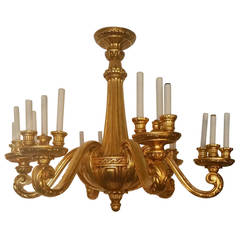 Hand-Carved 19th Century Chandelier