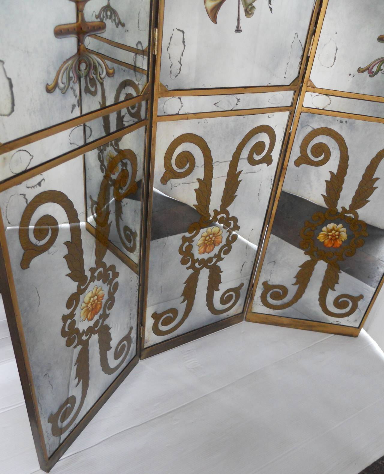 French Mirrored Screen For Sale 2