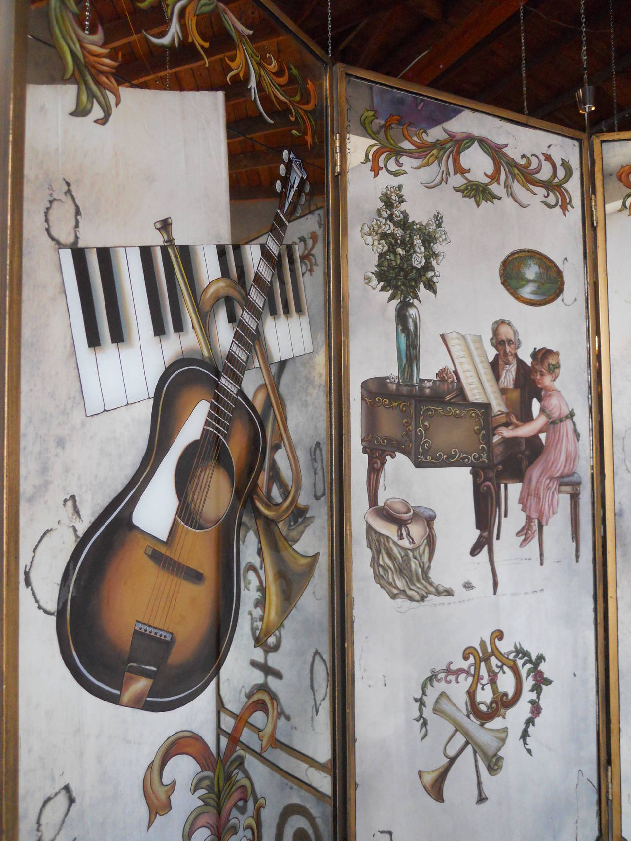 French Mirrored Screen In Excellent Condition For Sale In Los Angeles, CA