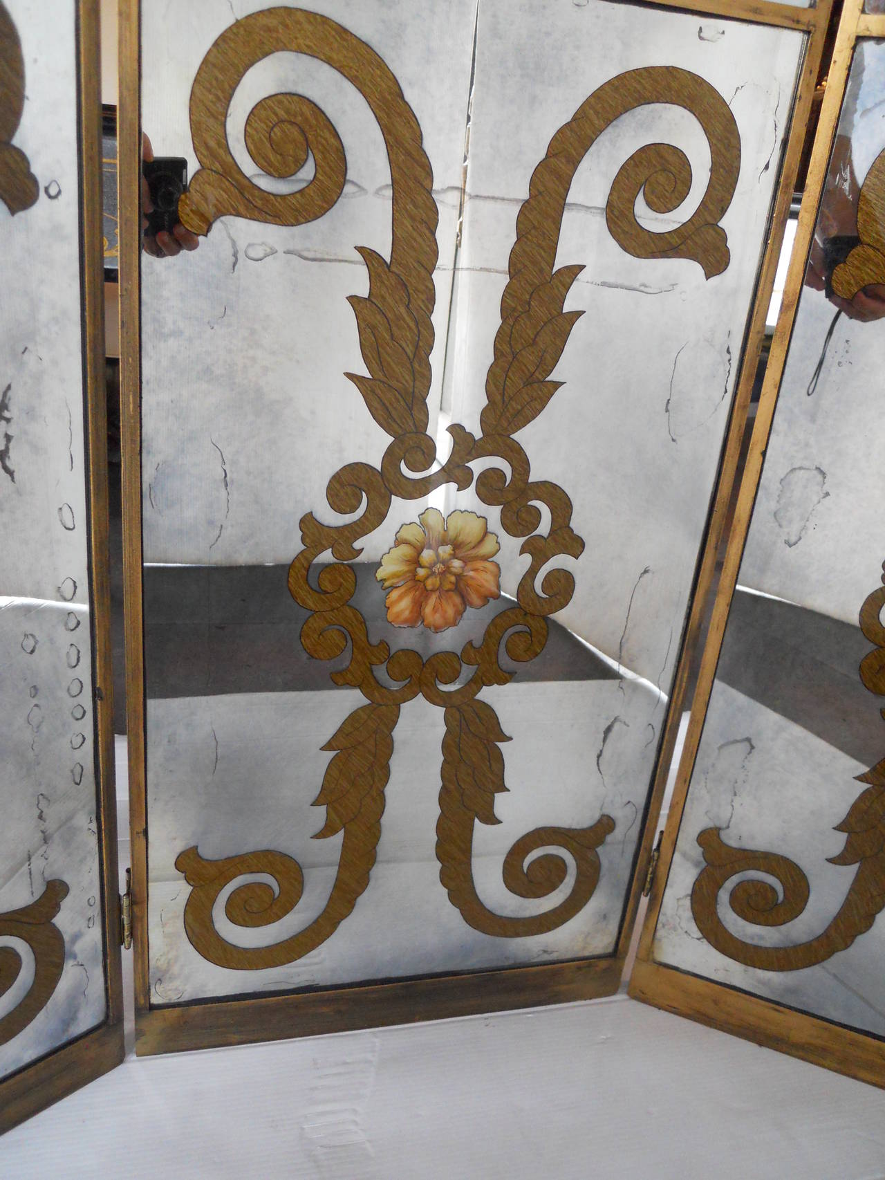 French Mirrored Screen For Sale 5