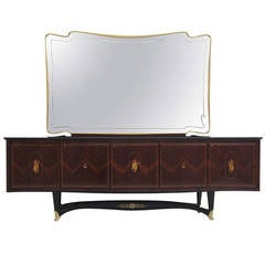 Rosewood Sideboard with Mirror by Dassi