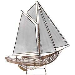 Superb Curtis Jere Ship Model