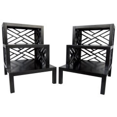 Chic Pair of Telephone or Side Tables