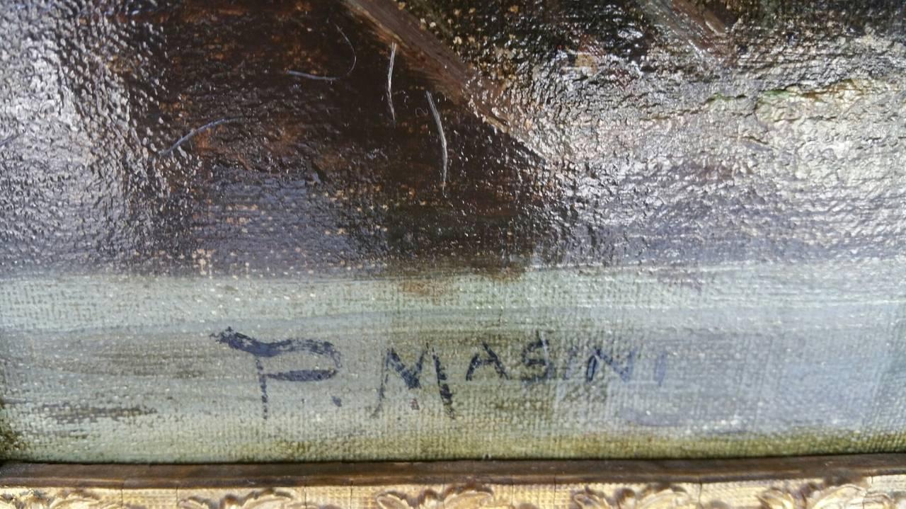 Painting Signed P. Masini 6