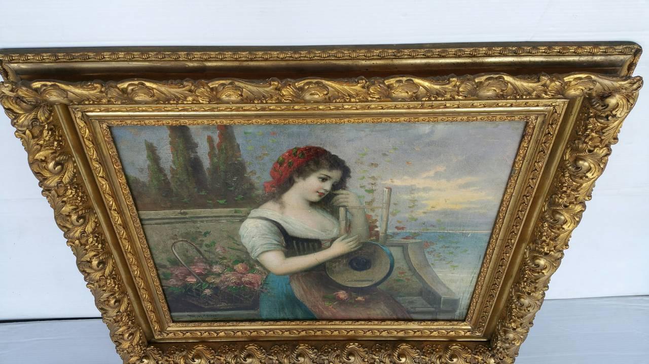 Painting Signed P. Masini 8