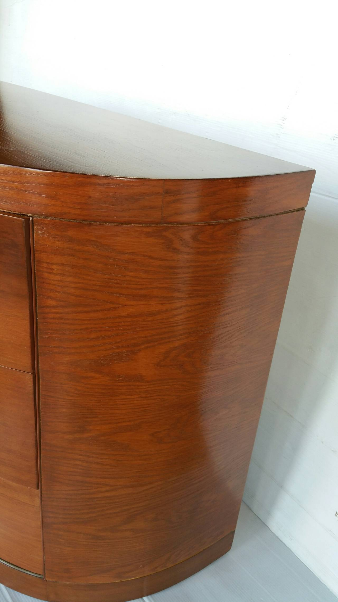 American Walnut And Oak Commode In The Style Of Gilbert