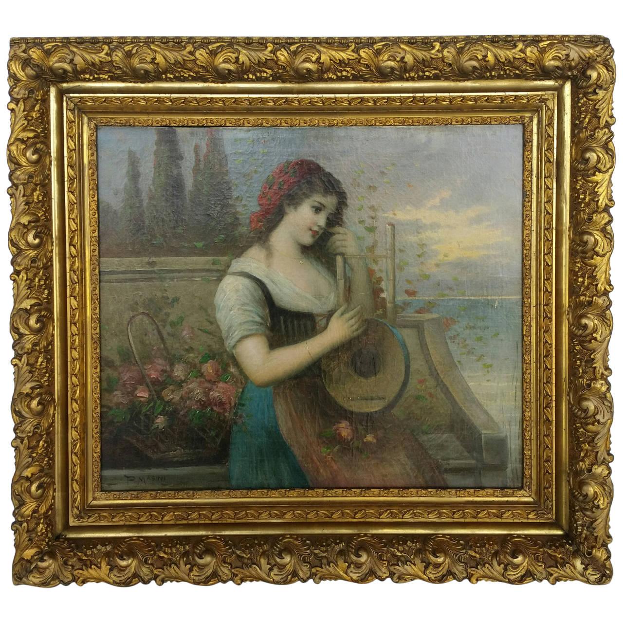 Painting Signed P. Masini 1