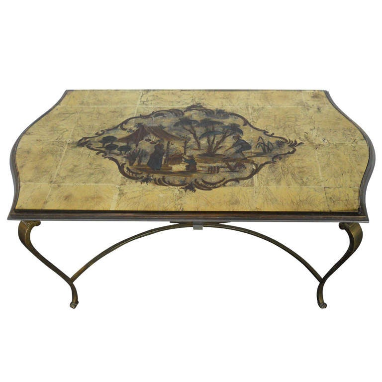Superb French Eglomise Coffee Table