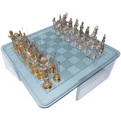 """Grand Vintage Chess Set """"Charlemagne and Moors"""""""