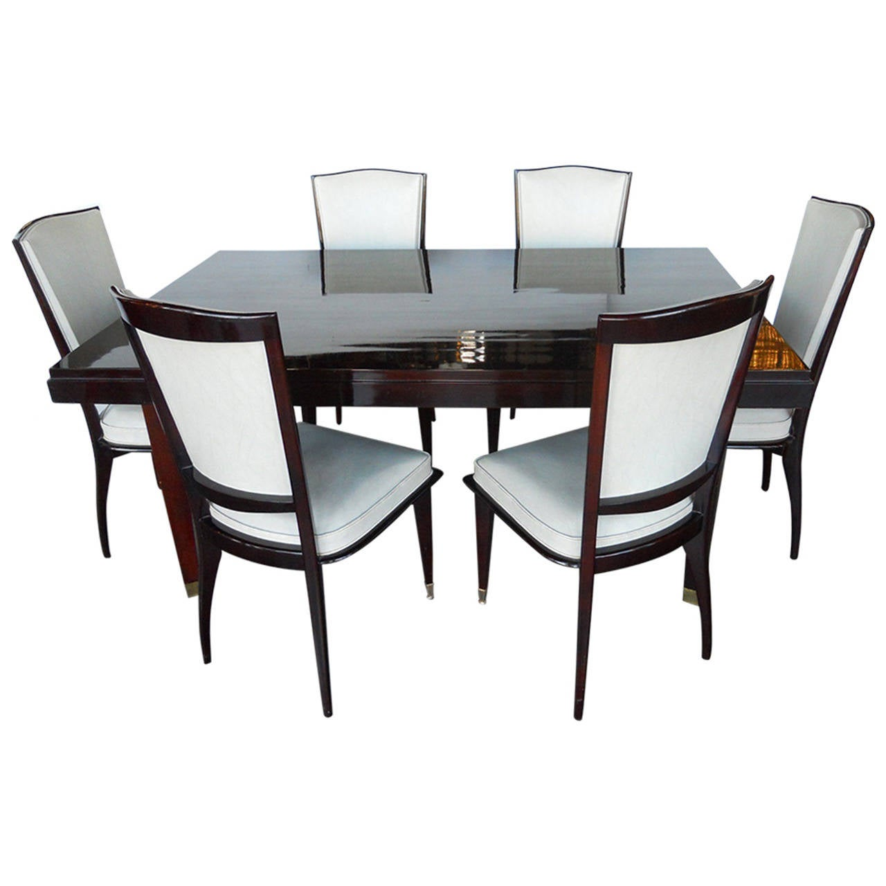 art deco dining room sets and