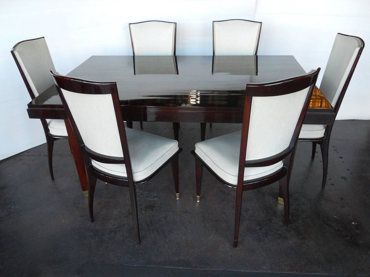 Elegant art deco dining room set by sviadocht freres at 1stdibs - Art deco dining room table ...