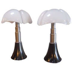 Superb Pair of Gae Aulenti Pipistrello Table Lamps