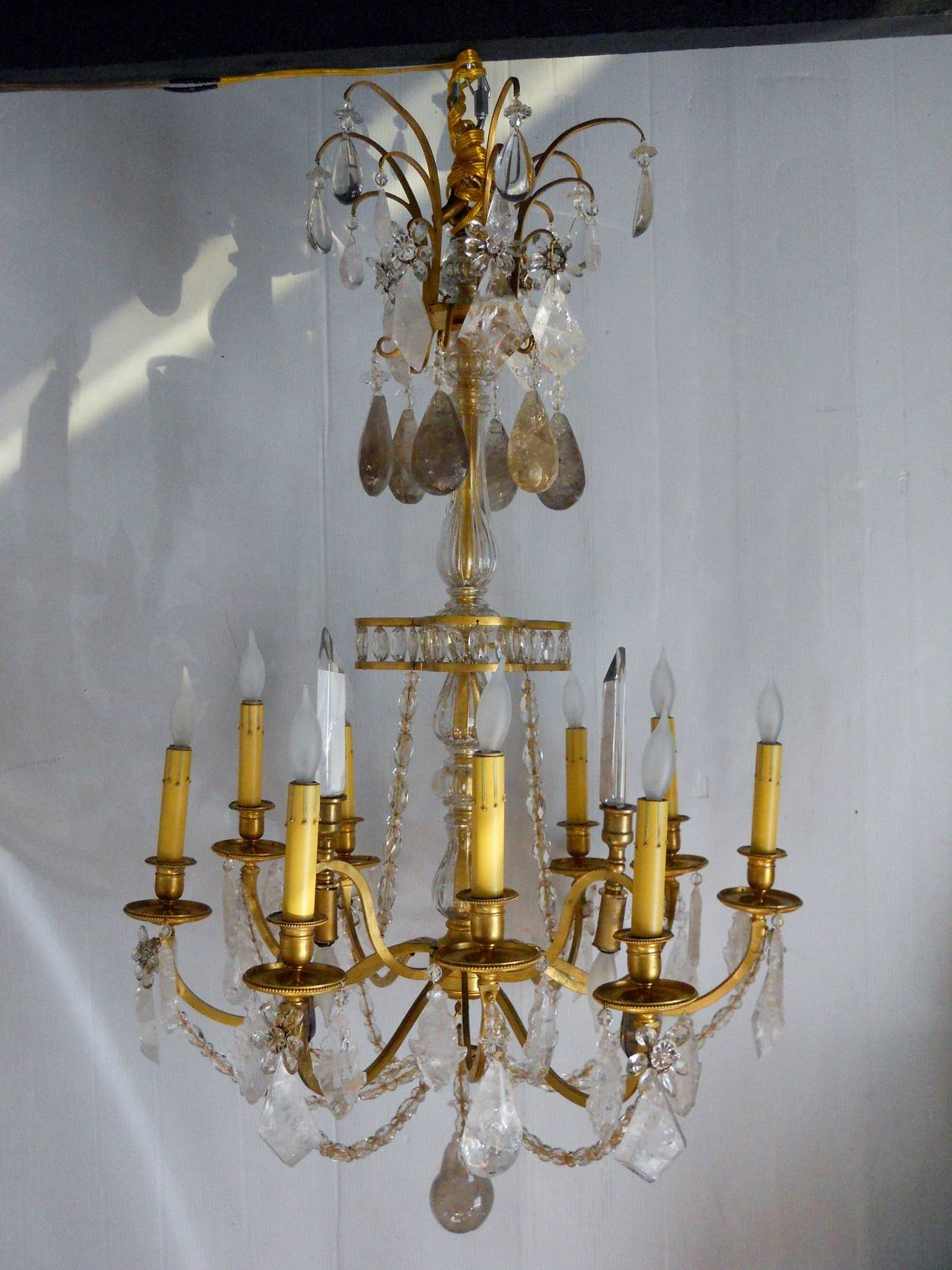 Fabulous French Chandelier In Excellent Condition For Sale In Los Angeles, CA