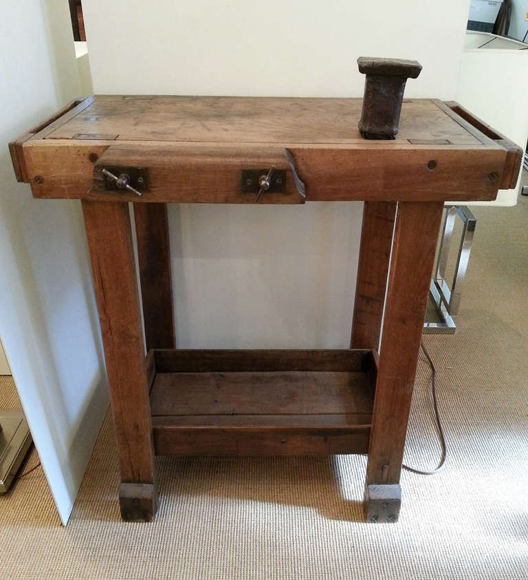 Small Oak Jeweler 39 S Bench At 1stdibs
