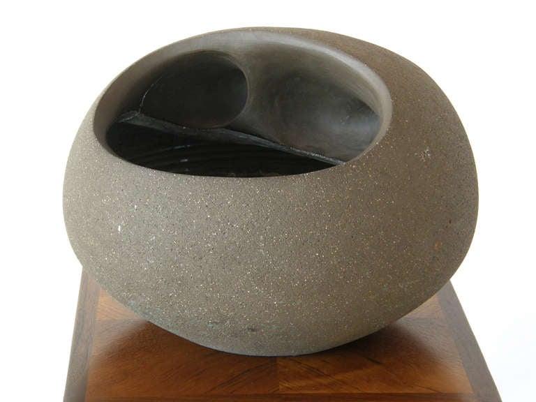 Late 20th Century Dorothy Horton Sculptural Ceramic Floor Vase Anthropomorphic