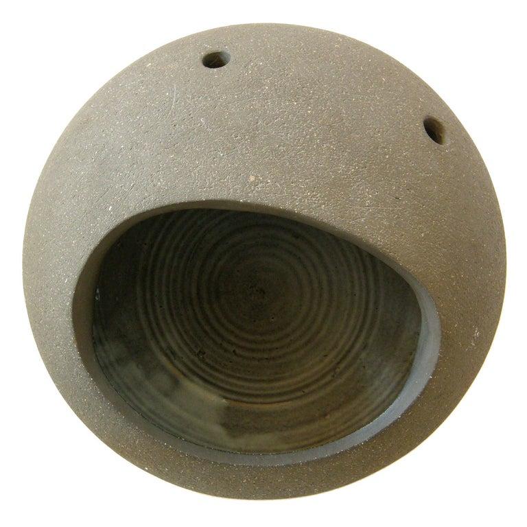 "Dorothy Horton Sculptural Ceramic Floor Vase Anthropomorphic ""Moon Rock"" For Sale"