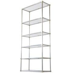Aluminum and Brass Shelf