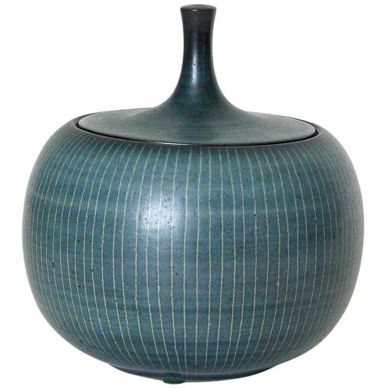 Harrison Mcintosh Low Ceramic Jar At 1stdibs