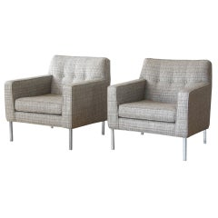 Dunbar Lounge Chairs with Custom Legs Designed by Jane Graham