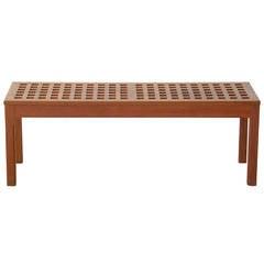 Rectangular Teak, Grid-Top Table
