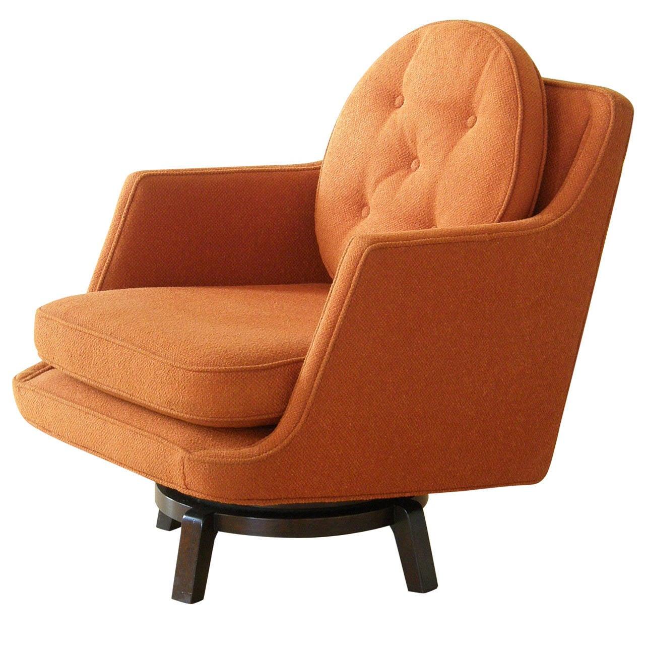 Edward wormley for dunbar swivel lounge chair at 1stdibs - Edward wormley chairs ...