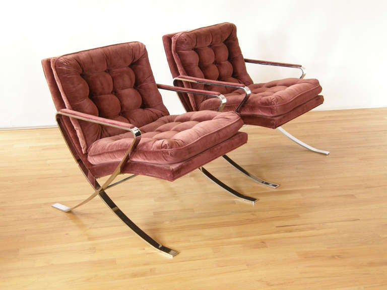 Charmant Pair Of Burgundy Velvet Lounge Chairs By Flair Furniture. Flair Is A Lesser  Known High