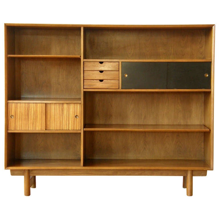 Unique Custommade Solid Cherry Bookcase With Bottom Cabinets