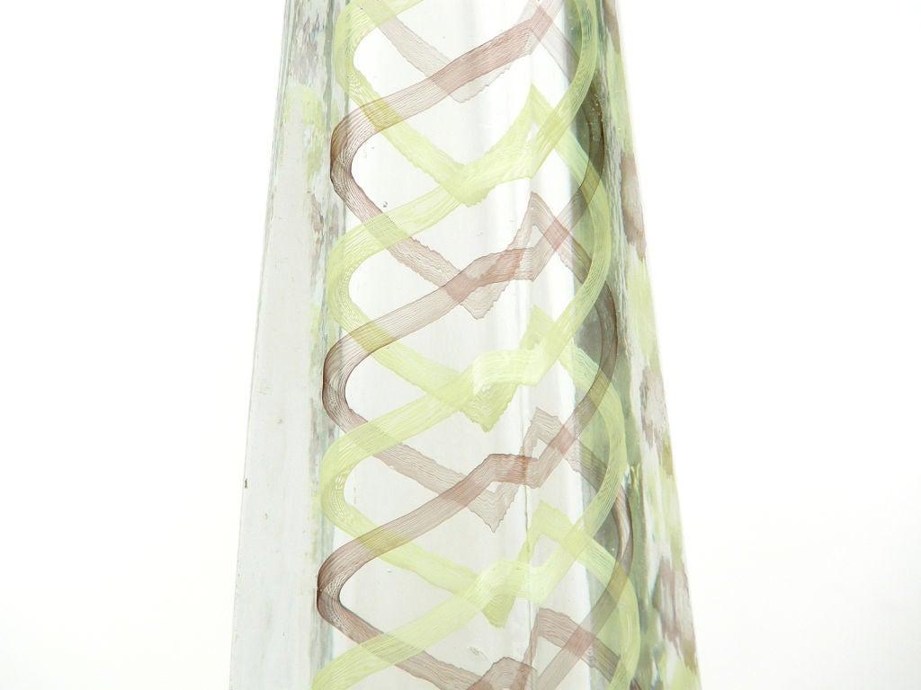 Italian Venini Murano Glass Obelisk Sculpture For Sale