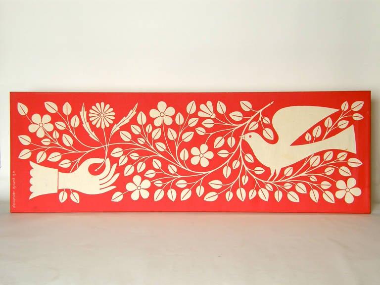 Alexander Girard Hand and Dove Wall Panel 2