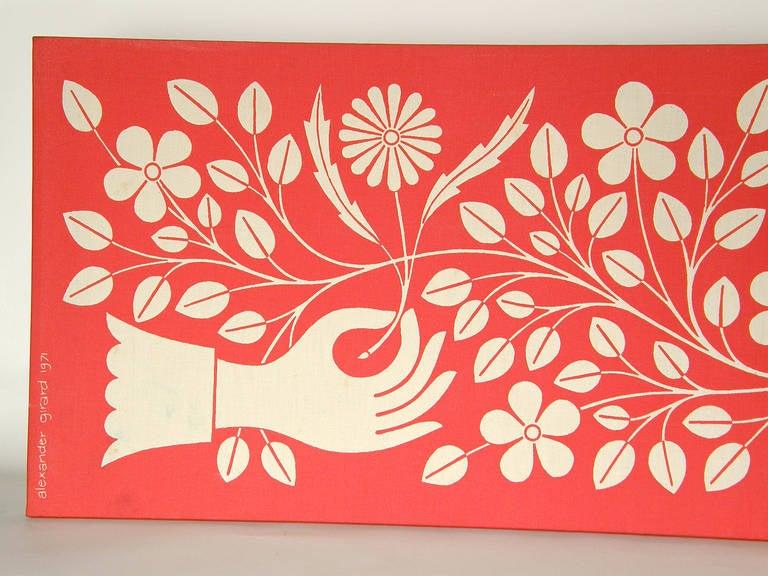 Alexander Girard Hand and Dove Wall Panel 3