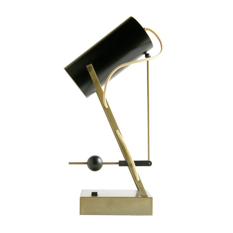 Arredoluce Mechanical Lamp Articulated Shade with Adjustable
