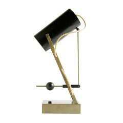 Arredoluce Mechanical Lamp Articulated Shade with Adjustable Lever Arm