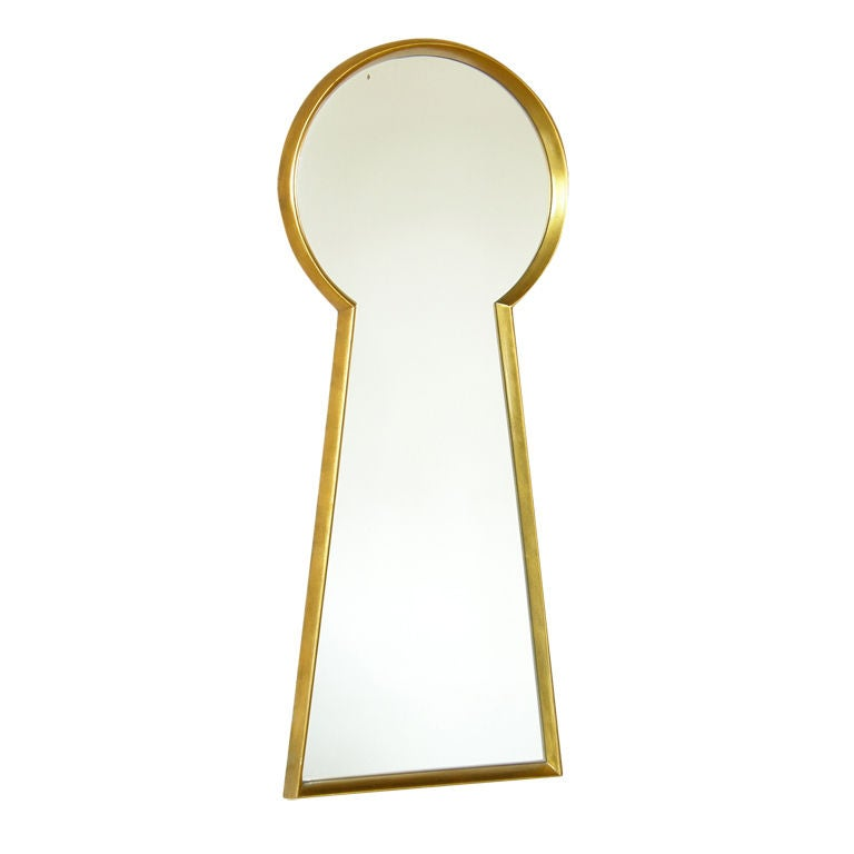 Gilt Wood Keyhole Mirror 1