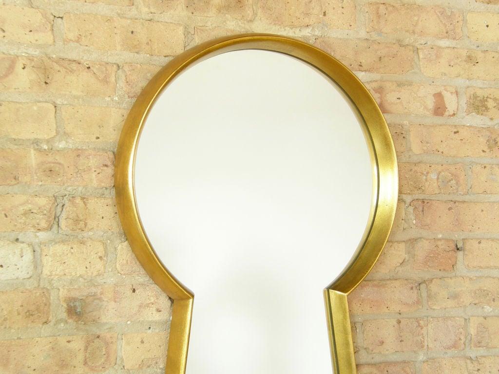 Gilt Wood Keyhole Mirror 3