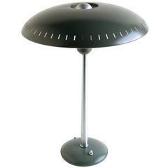 Louis Kalff Table or Desk Lamp for Philips with Perforated Metal Shade