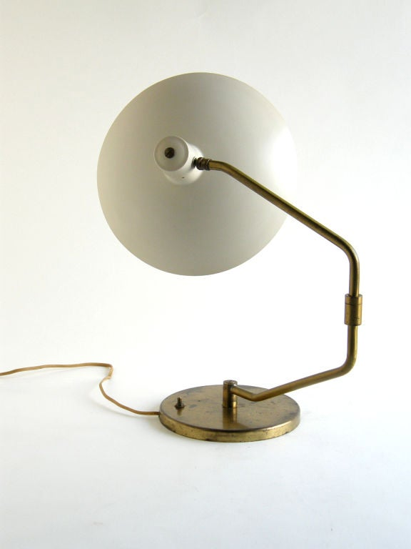 Unknown Clay Michie Table Desk Lamp for Knoll with Swiveling Arm and Adjustable Shade For Sale