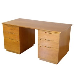Alvar Aalto Mahogany Desk for Artek with Drawers and Pull Out Work Surfaces
