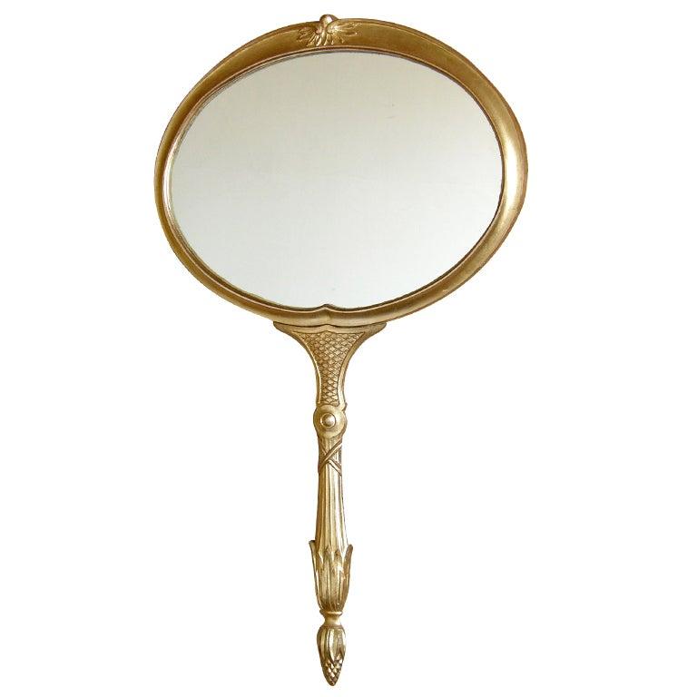 Hand Mirror Shaped Wall Mirror At 1stdibs