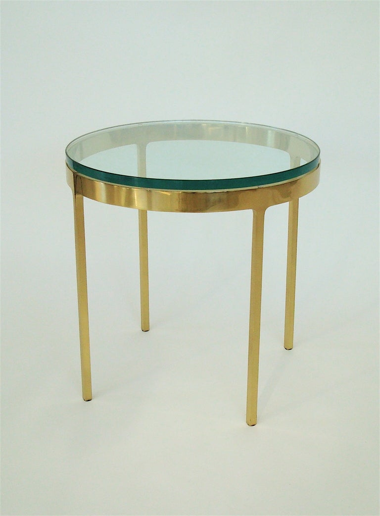 brass side table by nicos zographos at 1stdibs. Black Bedroom Furniture Sets. Home Design Ideas