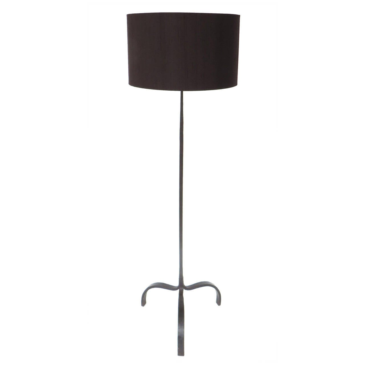 Minimalist Style Hand Wrought Iron French Floor Lamp with Shade